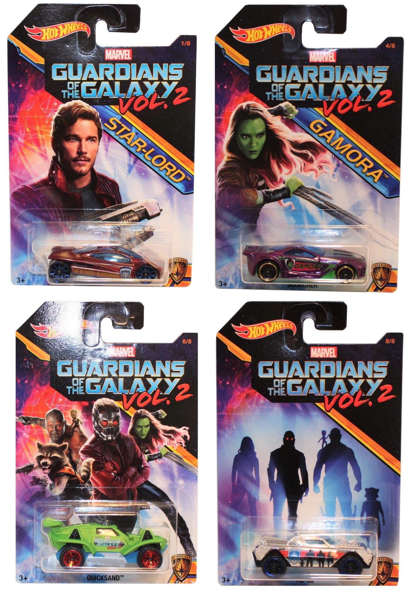 Hot Wheels Guardians of the Galaxy 4er Set Modell-Autos 1:64 Teil 3
