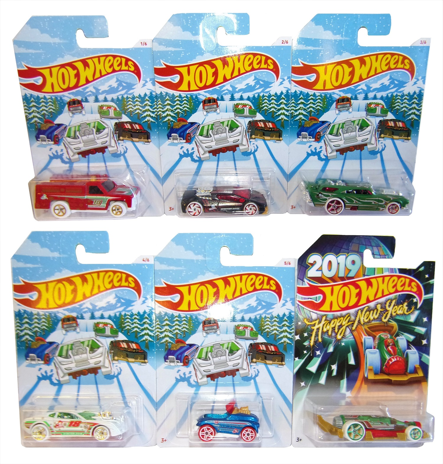 Hot Wheels Holiday Hot Rood 6er Pack Modell-Autos