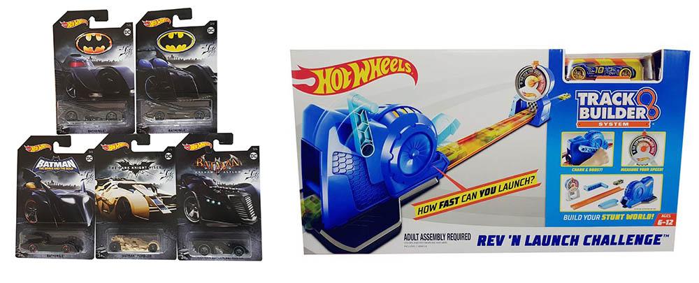 Hot Wheels Track Builder Stunt-Rennbahn Modellauto Turbo-Starter Batman Batmobil