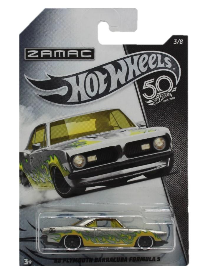 Hot Wheels 50th Anniversary Zamac Modellauto 68 Playmouth Barracuda Formula S
