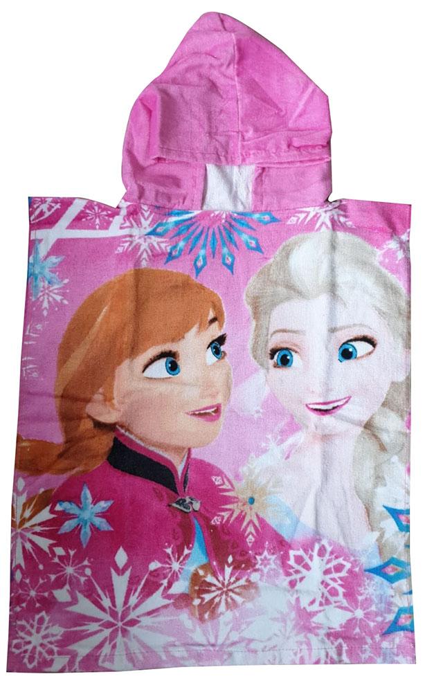 JF Bade-Poncho mit Kapuze Disney Frozen Sisters, 50 x 115 cm, 100% Baumwolle