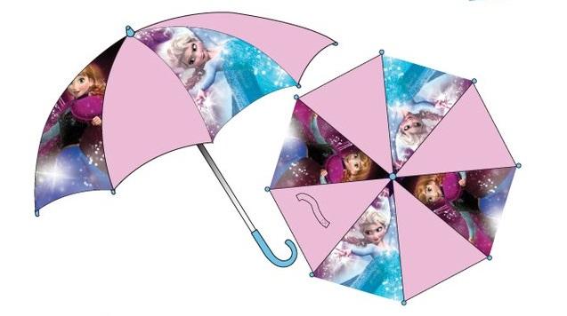 Die Eiskönigin Kinder Regenschirm Motiv Anna Elsa ca. 65cm Spannweite Länge 55cm