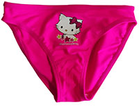 Charmmy Kitty Badehose, Badeslip, Bikinihose, für Kinder, Mädchen Neon Pink, Gr. 86 cm