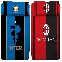 Bettwäsche Fußball Club Inter Mailand AC Mailand Bettdecke 140x200cm + Kopfkissen 60x63cm 100% Baumwolle (Auswahl)