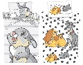 Disney Baby Kinder Bettwäsche Bambi Susi und Strolch Bettdeckenbezug 100 x 135 cm, Kopfkissenbezug 40 x 60cm 100% Baumwolle (Auswahl)