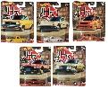 Hot Wheels 5er-Set Japan Historics GJP81 DATSUN SUNNY, GJP82 MAZDA COSMO, GJP83 HONDA CITY TURBO, GJP84 NISSAN SKYLINE, GJP85 NISSAN SILVIA
