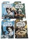 Hot Wheels FKD57 Star Wars Fahrzeuge 4er Pack mit Luke Skywalker, Yoda, Princess Leia, Jabba de Hutt