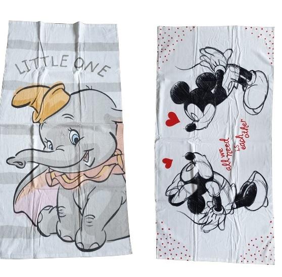Badetuch Disney Dumbo Mickey Maus Strandtuch 70cm x 140cm 100% Baumwolle (Auswahl)