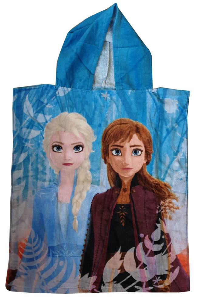 JF Bade-Poncho mit Kapuze Disney Frozen 2, 50 x 115 cm, 100% Baumwolle