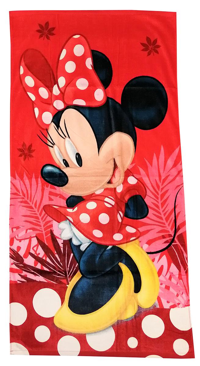 Disney Junior Minnie Maus Handtuch Minnie Maus Rot 70 x 140 cm 100% Baumwolle