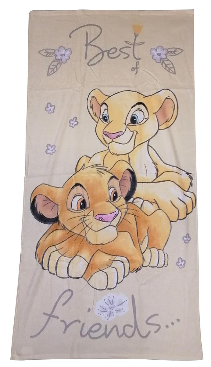 Disney König der Löwen Handtuch Best Friends Simba + Nala 70 x 140 cm 100% Baumwolle