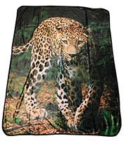 Sweet Home Gepard Kuscheldecke 120 x 150 cm Microfaser Flanell, 100% Polyester