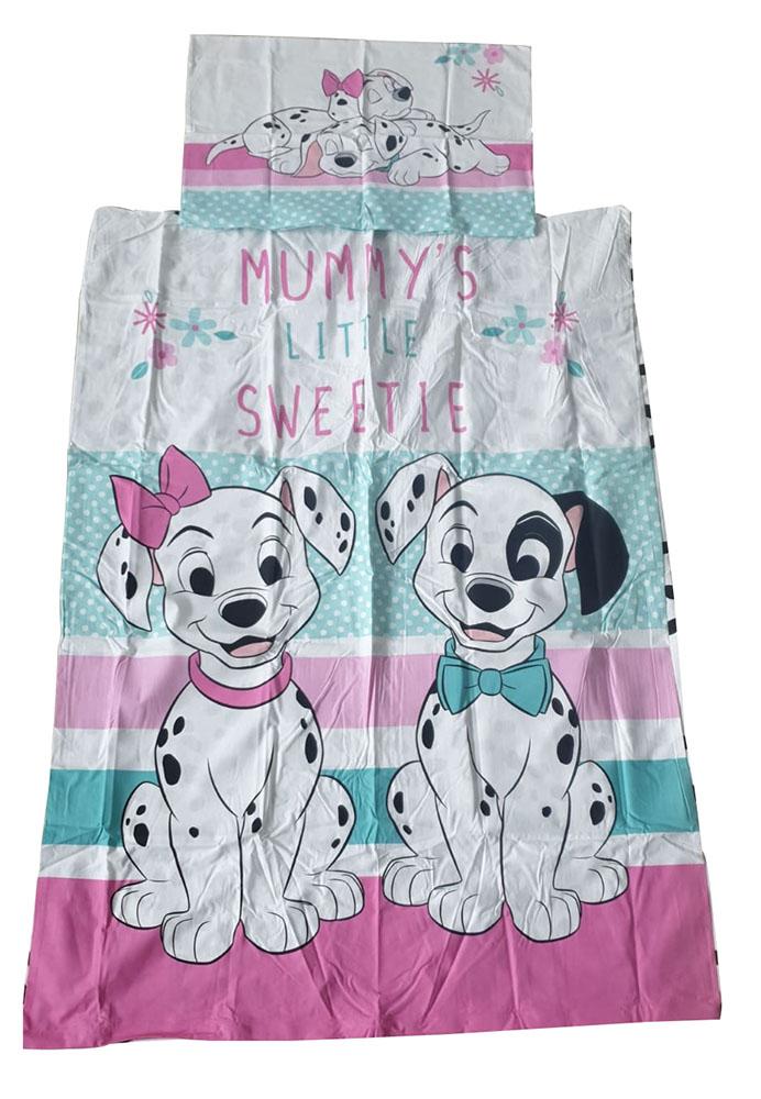 101 Dalmatiner Baby kuschelweiche Kinderbettwäsche 100x135 cm 100 % Baumwolle