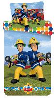 Bettwäsche Set Feuerwehrmann Sam und Elvis 140 x 200 Bettdecke + 70 x 90 cm Kopfkissen, 100% Baumwolle, mit Reißverschluss