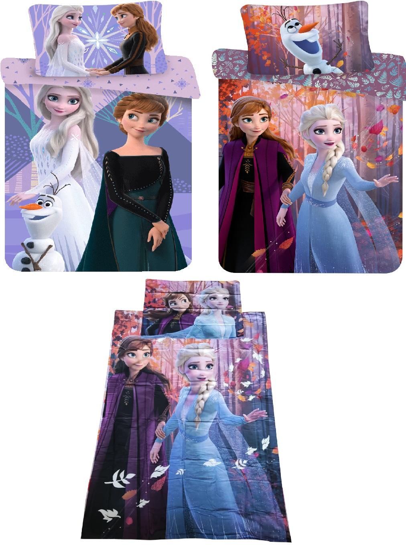 Bettwäsche Set Motiv: Disney Frozen Anna und Elsa 140 x 200 Bettwäsche + 70 x 90 Kopfkissen cm, 100% Baumwolle (Auswahl)