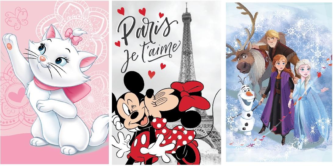 Disney Fleecedecke, Frozen Aristocats Minnie Maus 100x150 cm (Auswahl)