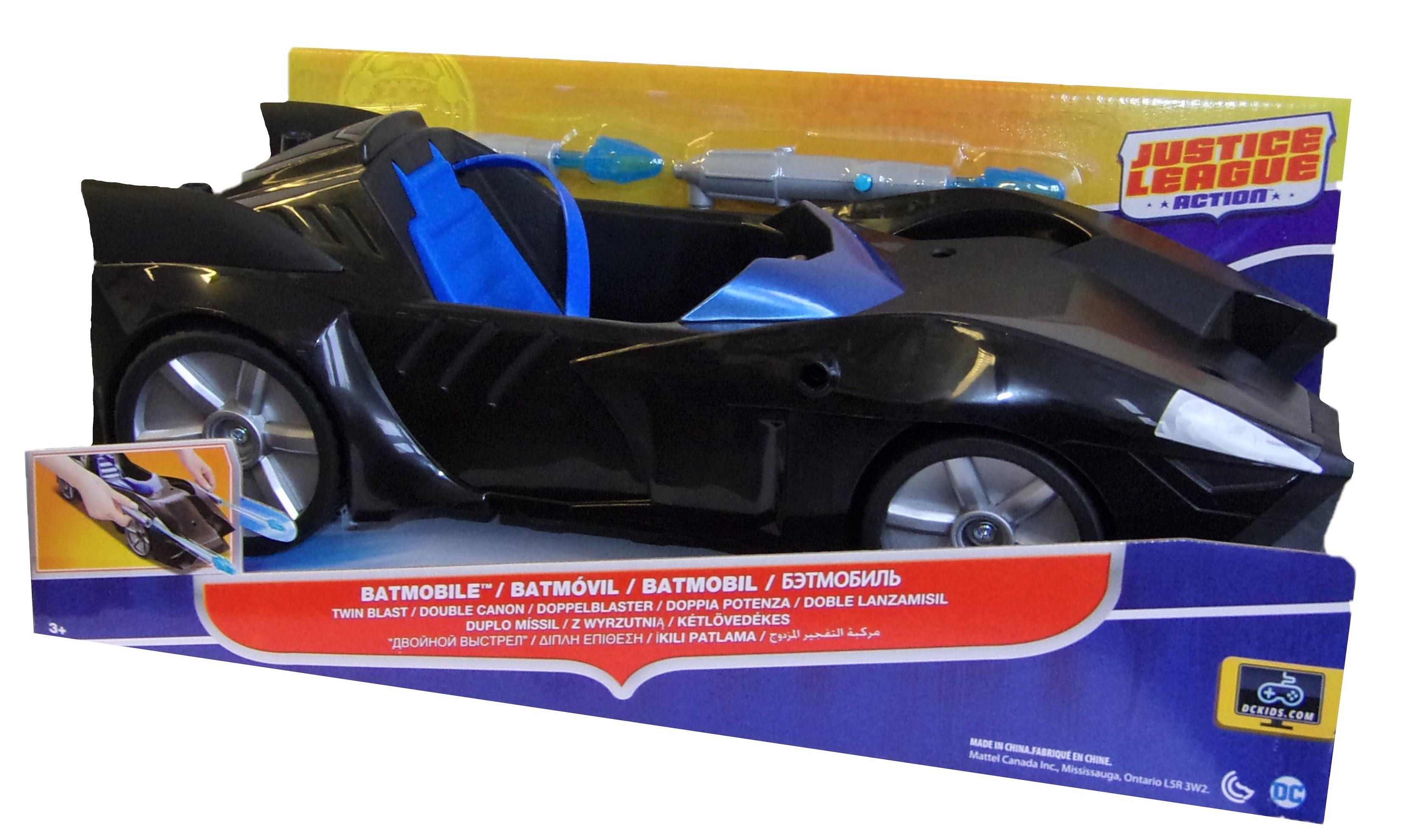 Justice League Action Batmobil Doppelblaster schwarz FDF02-DC