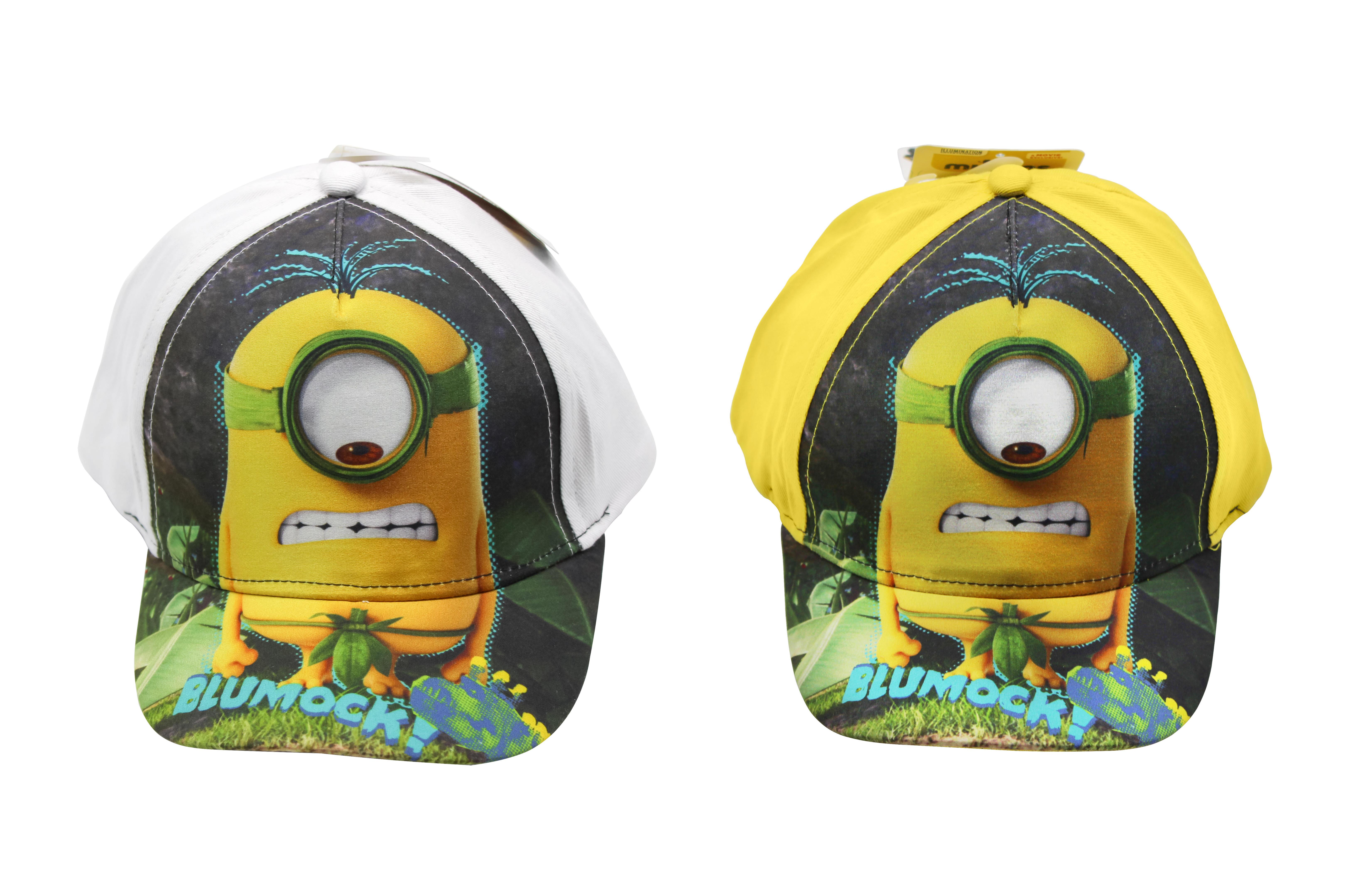 Kappe Minions Blumock weiß/gelb Schirmmütze für Kinder (Auswahl)