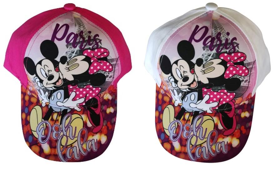 "Kinder Kappe Motiv: Disney Minnie Maus Paris ""Ooh Lala"" pink oder weiß (Auswahl)"