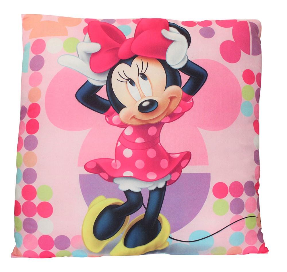Disney Minnie Maus Kissen rosa mit Punkten 40 x 40 cm