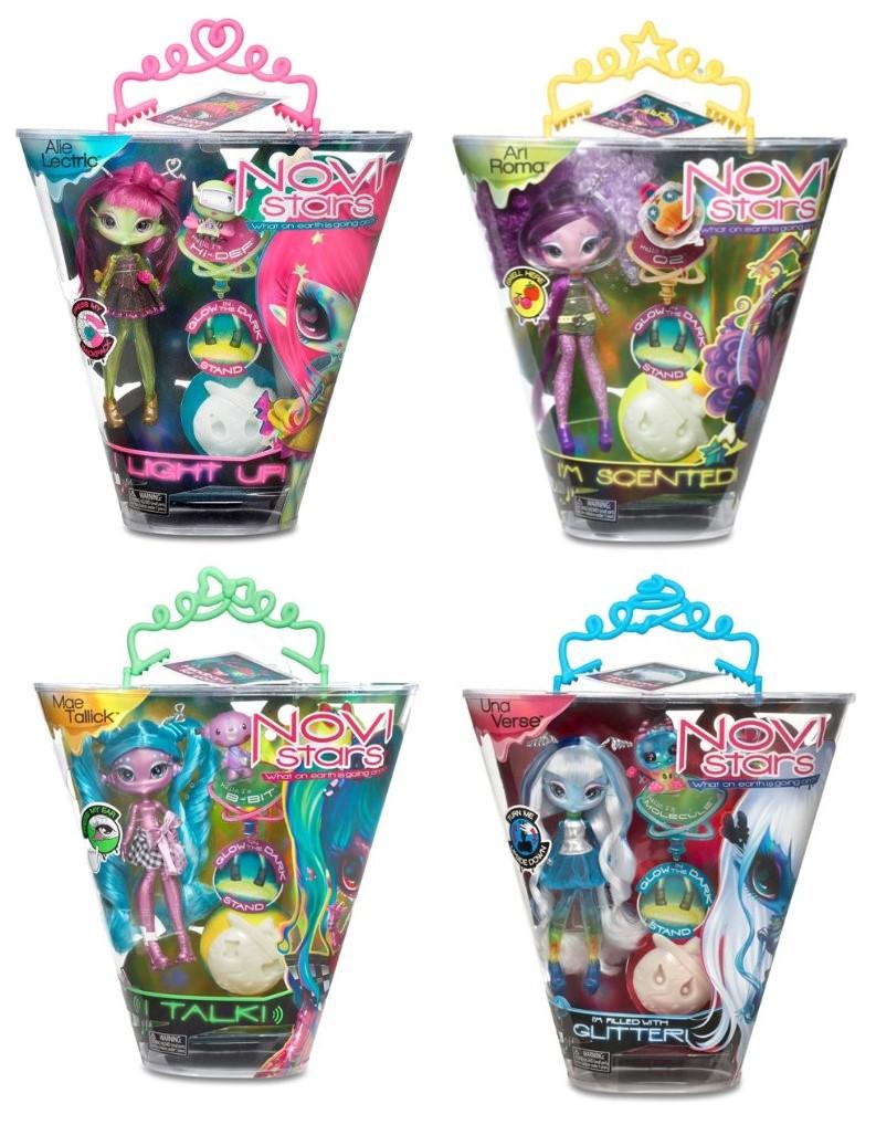 MGA Novi Stars Puppen mit Glitzer für Kinder, Mädchen (Auswahl)