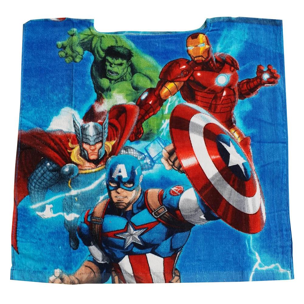 Marvel Avangers 4 Helden Badeponcho ohne Kapuze aus 100% Baumwolle 50x50cm