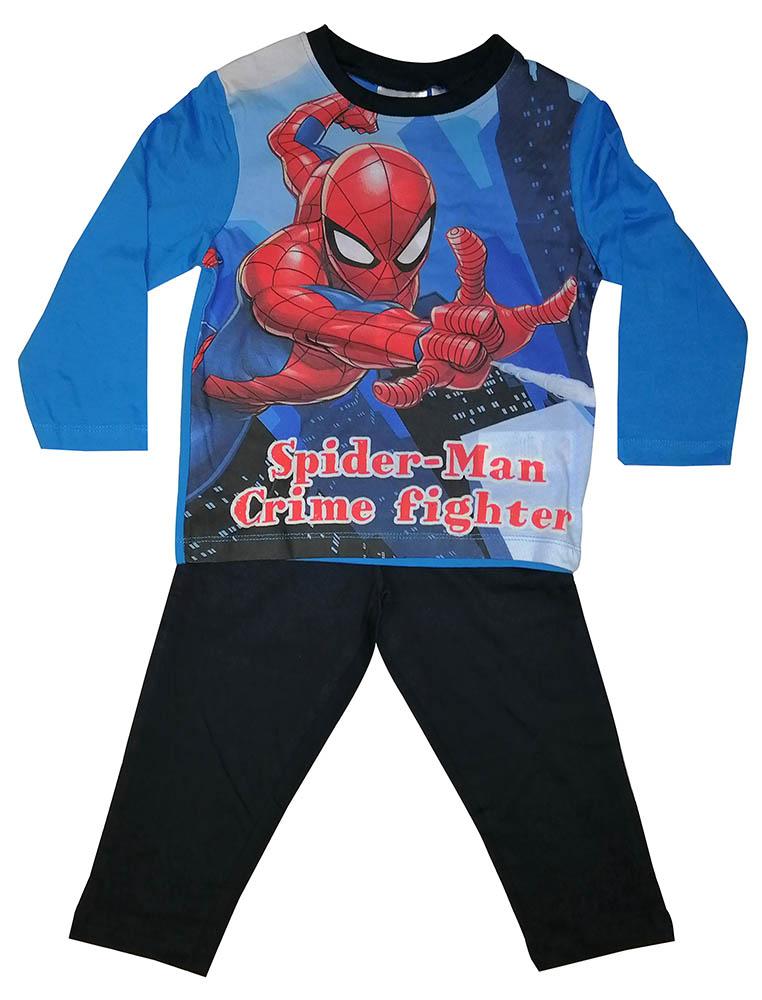 Marvel Schlafanzug Spider-Man Crime Fighter Pyjama blau für Kinder (Auswahl)