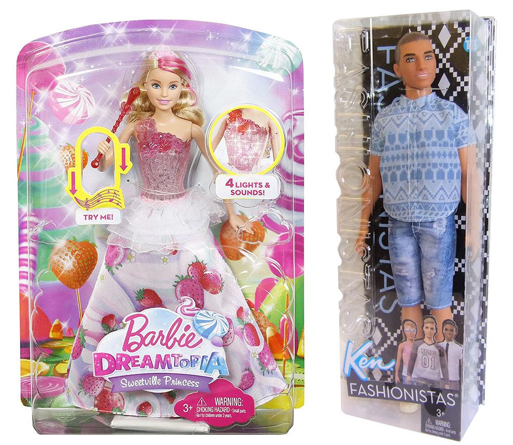 Mattel Barbie Bonbon Licht & Musik Prinzessin DYX28 Ken Fashionistas Jeans FNJ38