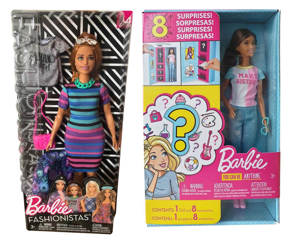 Mattel Barbie FJF69 Fashionistas GFX86 Karriere Überraschungsoutfits Berufe