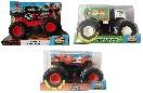 Mattel Hot Wheels 3er-Set Monster Trucks 1:24 GCG07 Double Troubles, GJG72 Will Trash It All GJG70 Twin Mill Spielzeugautos