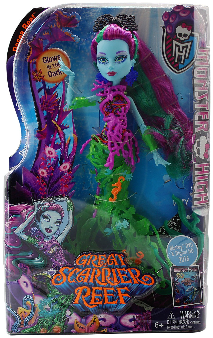 Mattel Monster High DHB48 - Modepuppen, Das Große Schreckensriff, Posea Reef
