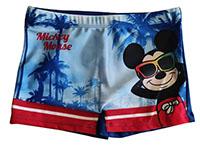 Disney Mickey Maus Badehose Badeshorts Schwimmhose mit Palmen für Kinder Blau Gr. 128