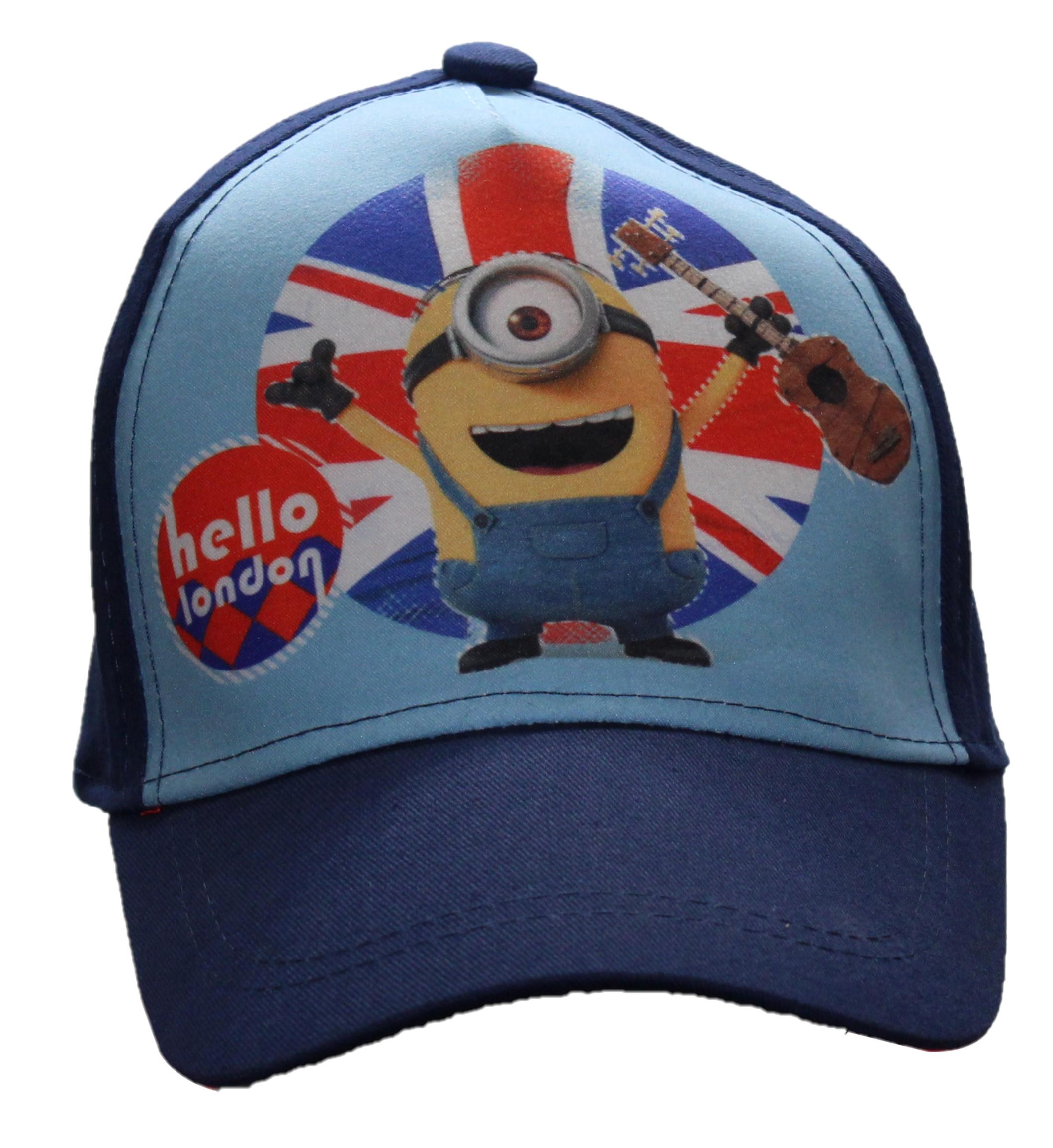 Minions Baseball Kappe Hello London Blau Größe 52