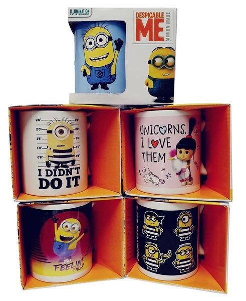 Minions Keramik-Tassen mit Henkel 5er Pack mit verschiedenen Charakteren