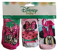 Disney Minnie Maus Baby Socken Strümpfe 3er Pack für Babys Rosa, Pink, Türkis, 0-6 Monate