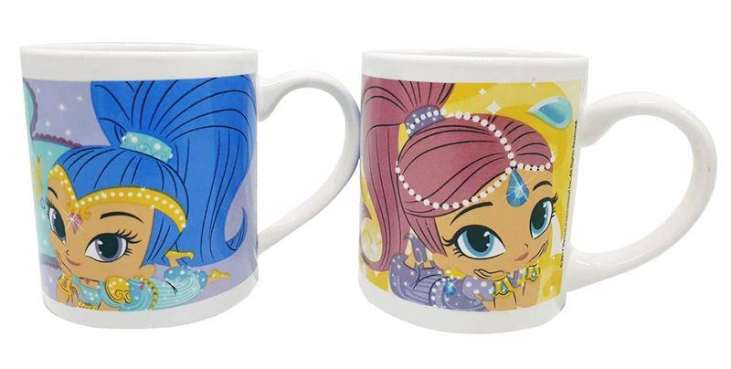 Nickelodeon Keramik-Tassen 2er Pack mit Shimmer und Shine für Kinder
