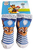 Nickelodeon Paw Patrol Baby Socken mit Hund Chase blau grau Größe 15/17