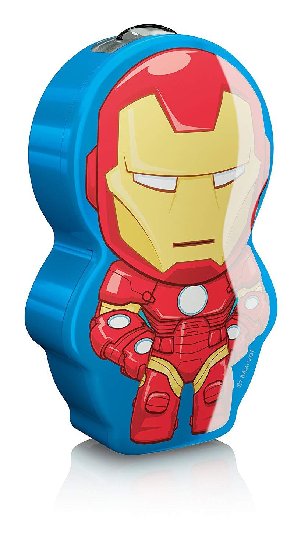 Marvel Iron-Man Kindertaschenlampe LED Blau-Rot
