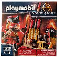 PLAYMOBIL Novelmore 70228 Feuerwehrskanone und Feuermeister mit Zubehör, Spielfigur
