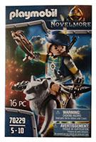 PLAYMOBIL Novelmore 70229 Armbrustschütze mit Wolf und Zubehör, Spielfigurset