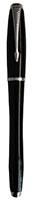 Parker S0850490 Tintenroller, Schwarz glänzend mit Chromzierteilen in einer eleganten Geschenkverpackung