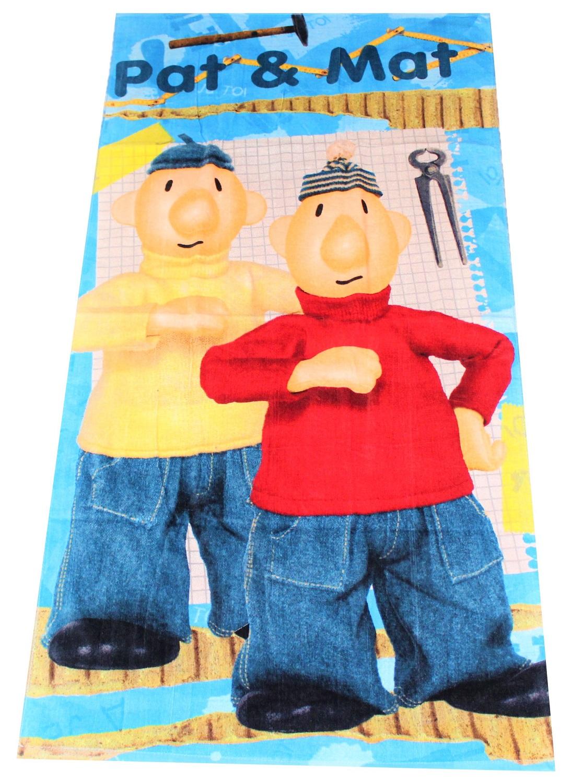 Badetuch Pat & Mat 100 % Baumwolle 70 x 140 cm Strandhandtuch Kinder