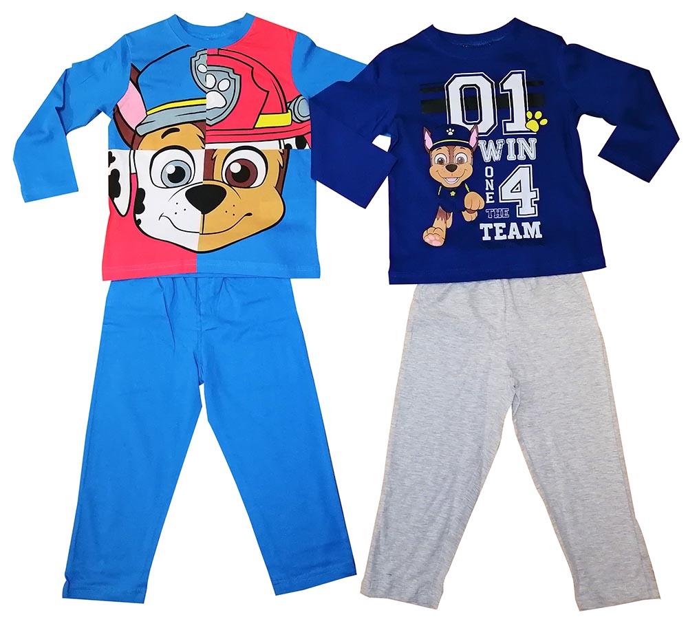 Paw Patrol 2er Set Kinder Pyjama Lang Türkis/Blau Schlafanzug Größe 110