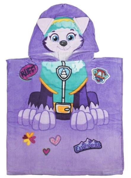 Paw Patrol Bade-Poncho 50x100 cm für Kinder Everest Violett