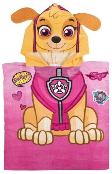 Paw Patrol Bade-Poncho 50x100 cm für Kinder Pink Violett (Auswahl)