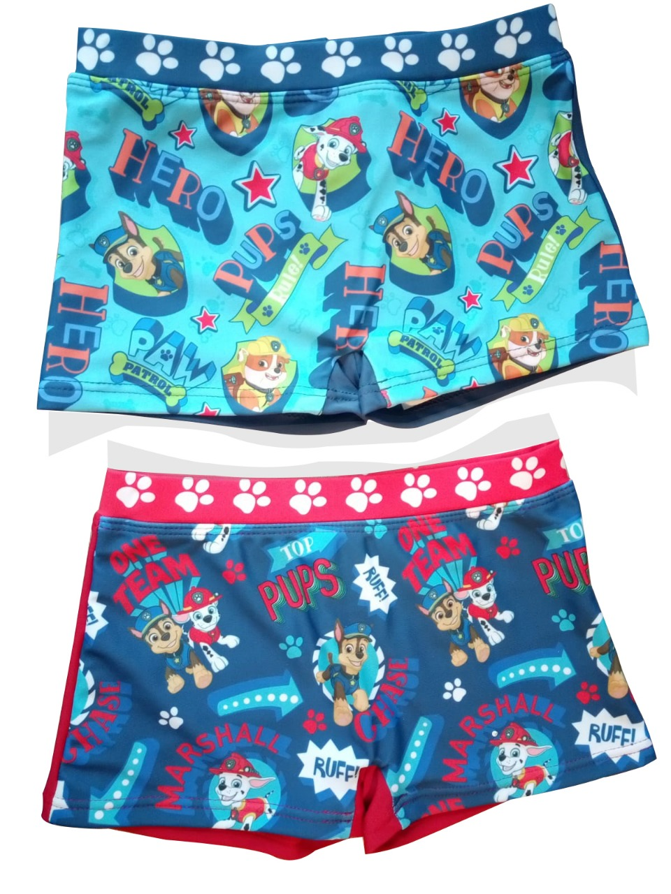 Paw Patrol 2er Set Bade-Shorts für Urlaub, mehrfarbig für Jungen (Auswahl)