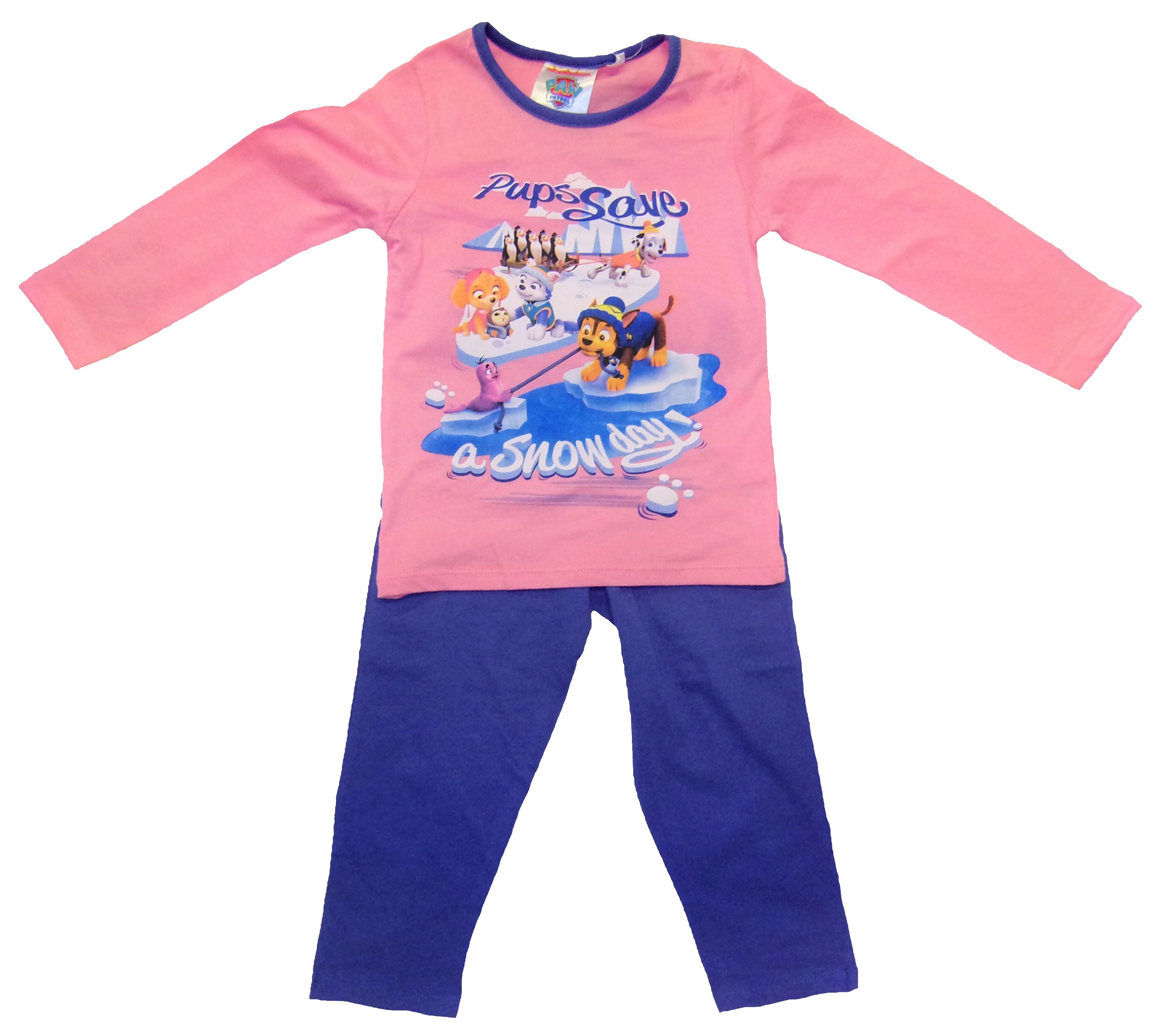 Paw Patrol Langarm Schlafanzug für Kinder rosa Größe 98
