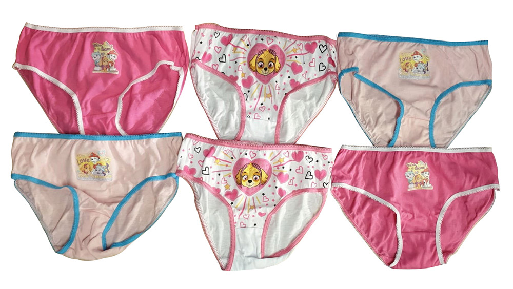 Paw Patrol Mädchen rosa Slips 6er Pack verschiedene Größen (Auswahl)