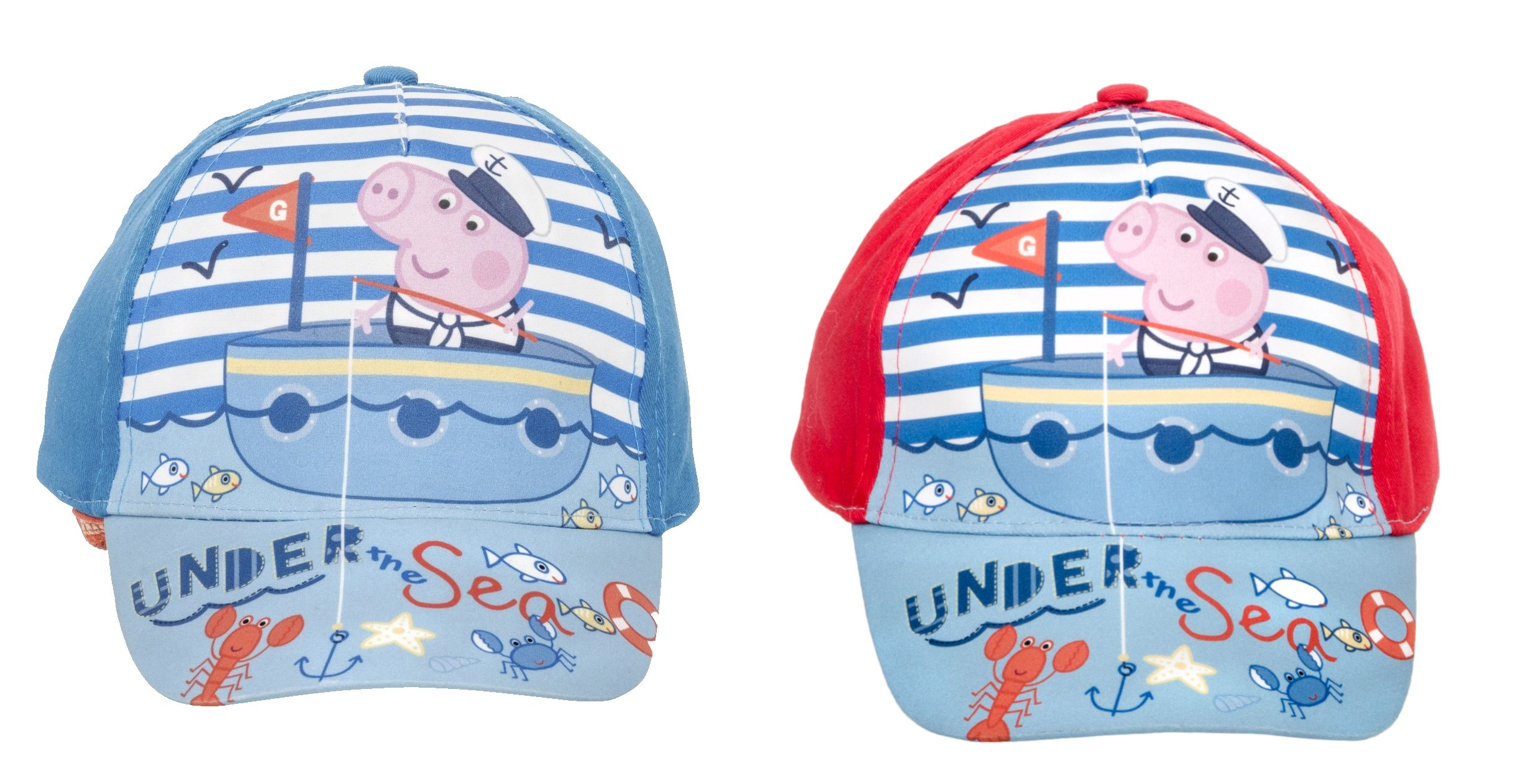 Details about Peppa Pig cap Baseball caps cappy sun protection hat for kids  blue and red New a5312a17c70