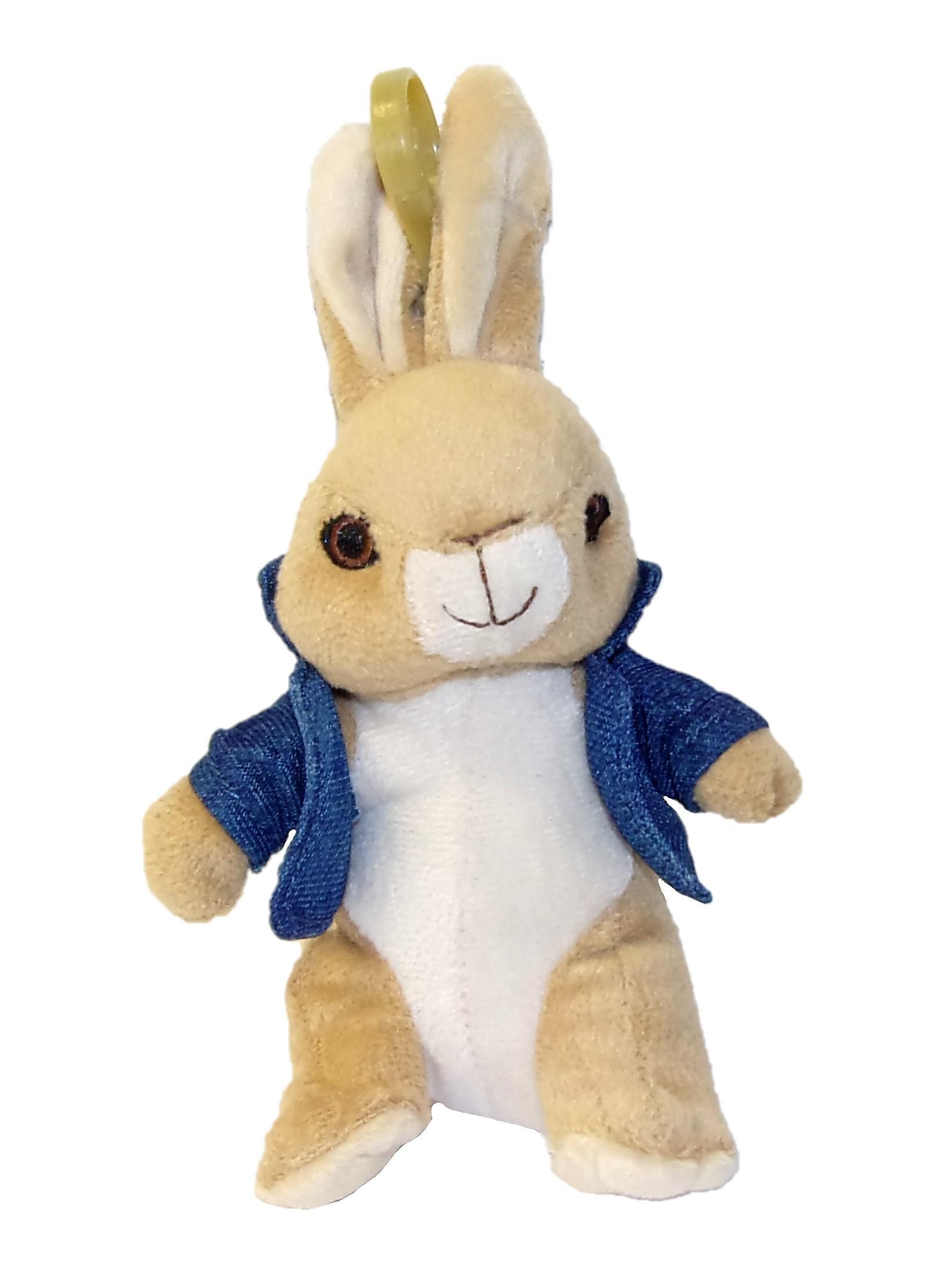 Peter Hase Peter mit blauer Jacke Plüschanhänger 18 cm